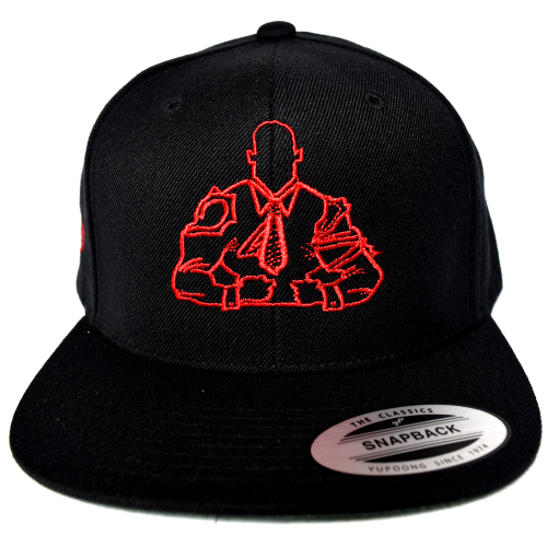 bosslife-athletics-snapback-red-logo-front